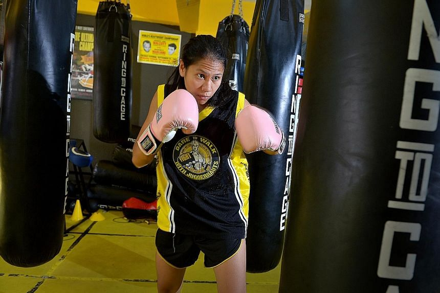 Ms Nurshahidah can be aggressive in the ring, even with her teammates and closest friends.