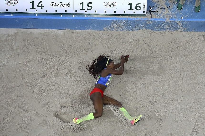 The measure of success came in the form of a first Olympic gold for Colombia's triple jump world champion Caterine Ibarguen. The 32-year-old leaped a season-best 15.17m to beat Venezuela's Yulimar Rojas (14.98m).