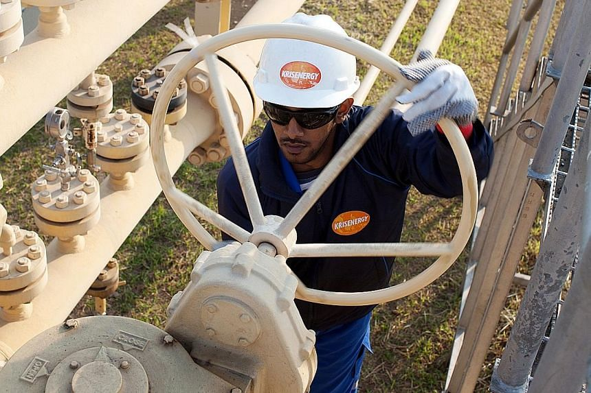 A worker at a KrisEnergy site. The energy company has 19 contract areas in Bangladesh, Cambodia, Indonesia, Thailand and Vietnam.