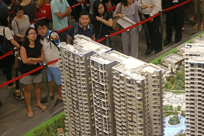 Despite the strong sales figures last month, they were still down 34 per cent on July last year, which saw sales beefed up by the 1,169 units moved at High Park Residences (above) in Fernvale. Analysts said yesterday that the latest private home sale