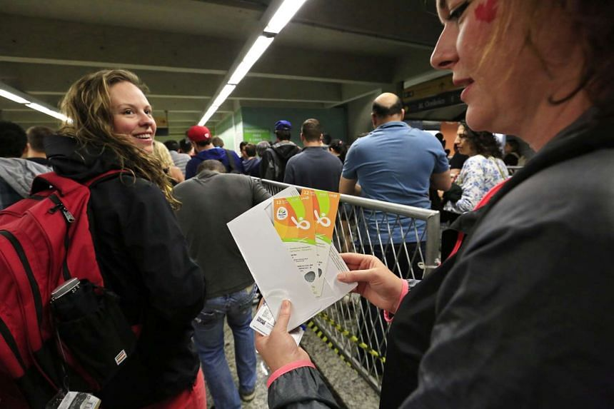 Brazilian police cracked down on Olympic ticket fraudsters who sell overpriced tickets to the Games.