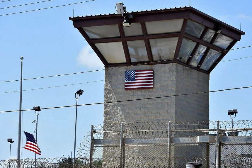 A watch tower at a detention facility at the US Naval Station in Guantanamo Bay, Cuba.