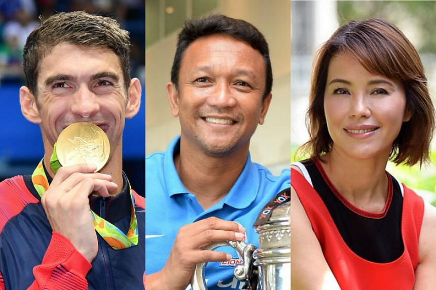 (From left) Michael Phelps, Fandi Ahmad and Zoe Tay are just a few of many celebrities who have congratulated Joseph Schooling on winning an Olympic gold medal.