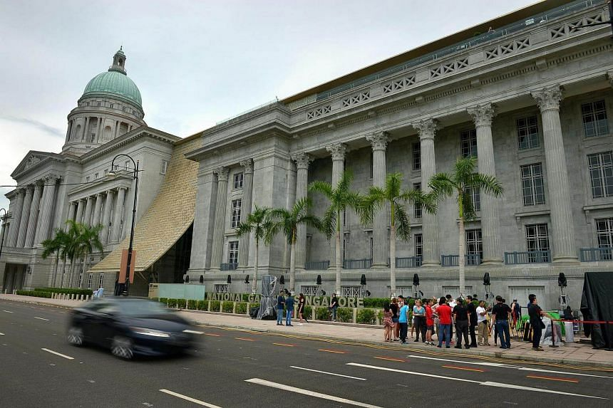National Gallery Singapore located in the Civic District.