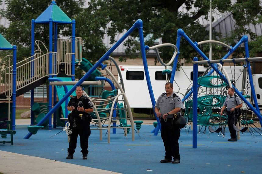 Members of the Milwaukee County Sheriff's department close down Sherman Park after disturbances following the police shooting of a man in Milwaukee on Aug 15, 2016.