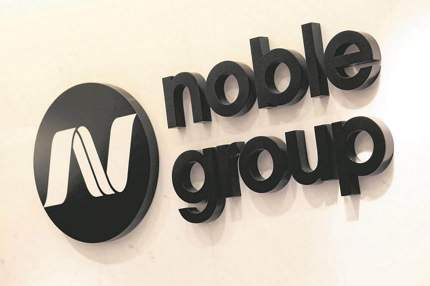 The company logo of Noble Group is displayed at its office in Hong Kong, China on January 22.