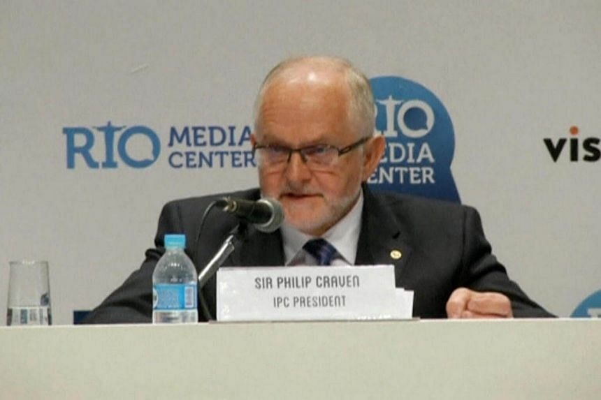 International Paralympic Committee President Philip Craven speaks during a news conference in Rio de Janeiro, Brazil, on August 7.