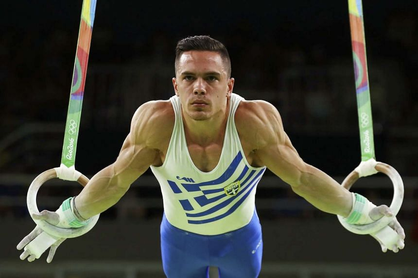Greece's Eleftherios Petrounias edged out local favourite and 2012 champion Arthur Zanetti to win the rings gold medal at the Rio Olympics on Monday.