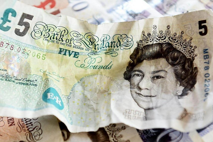 The British pound slumped to a fresh three-year low against the euro on August 15 and edged lower on the dollar, as signs of weakness mounted in the British economy.