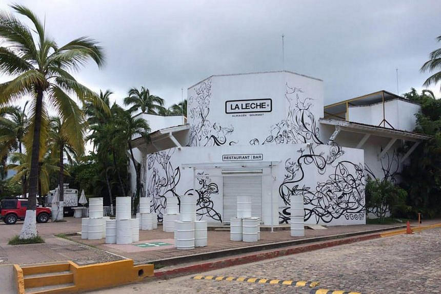 La Leche restaurant in Puerto Vallarta, in the western Mexican state of Jalisco, where gunmen kidnapped at least 10 people.