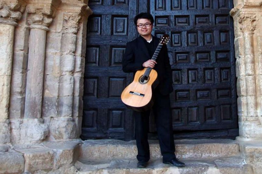 Guitarist Kevin Loh (above) will perform with violinist Loh Jun Hong and pianist Abigail Sin in Songs Of Travel on Sept 2.