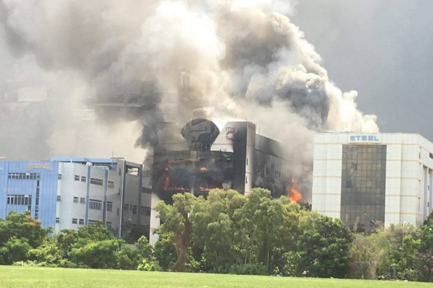 The fire was on the third and fourth floors of the building.