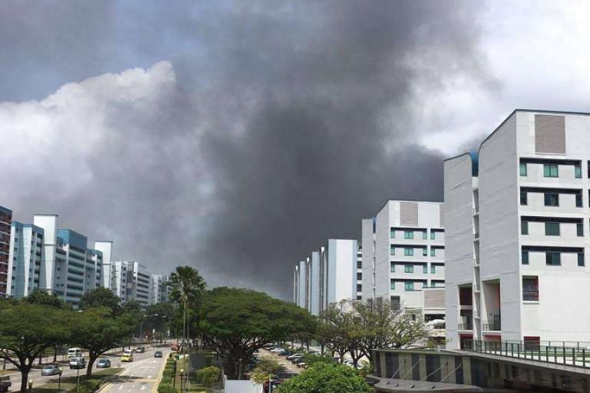 The fire could be seen from Temasek Polytechnic.