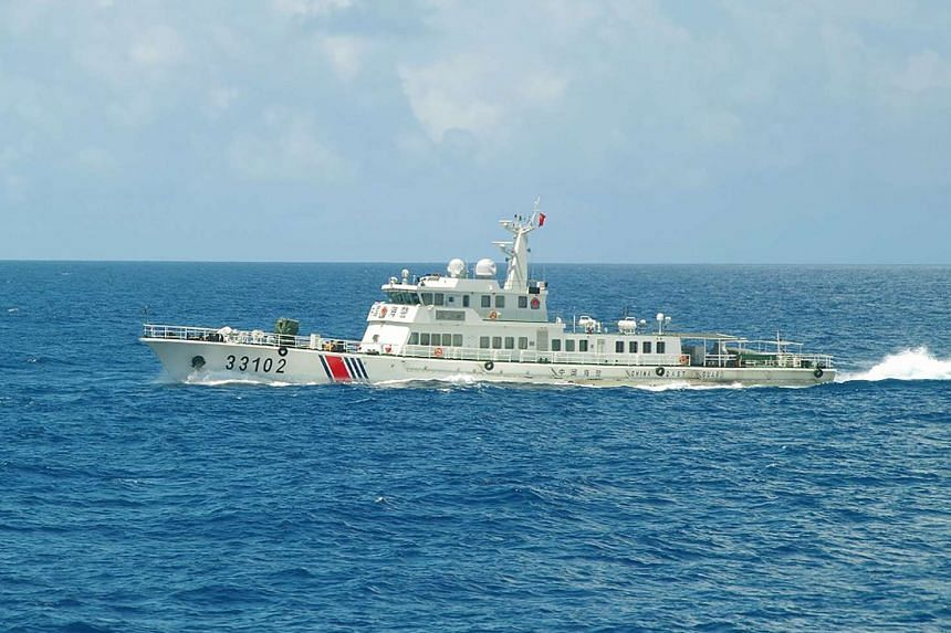 Chinese coast guard ship 33102 sailing near the waters of disputed East China Sea islands on Aug 7, 2016.