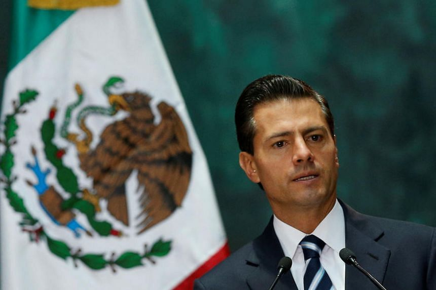 Mexico's President Enrique Pena Nieto gives a speech at the National Palace in Mexico City, Mexico on August 1.