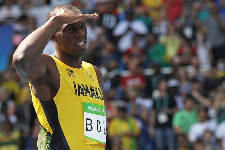 Bolt (above) clocked 20.28sec in winning his first round heat.