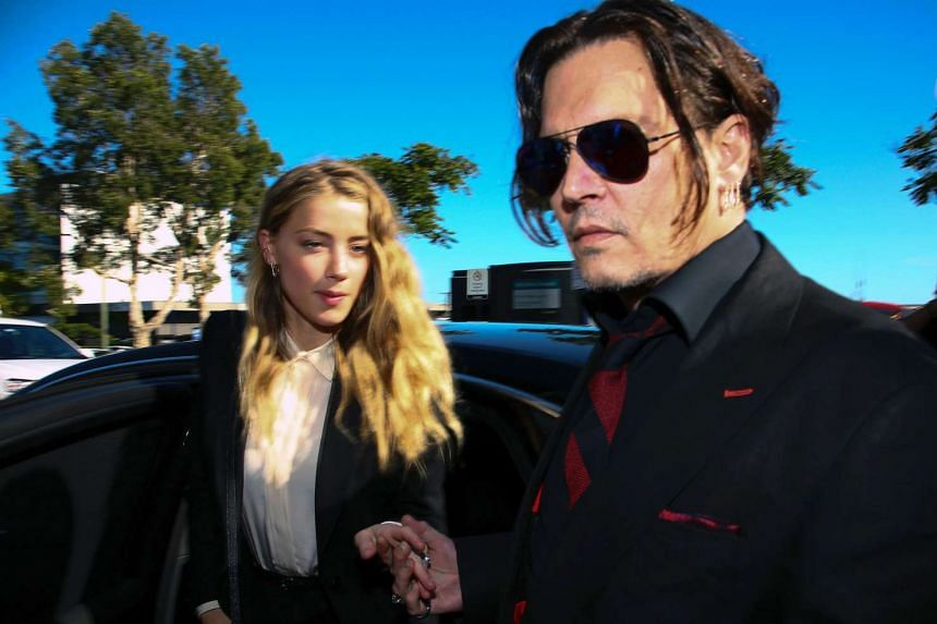 Amber Heard and Johnny Depp in April 2016 in Australia.
