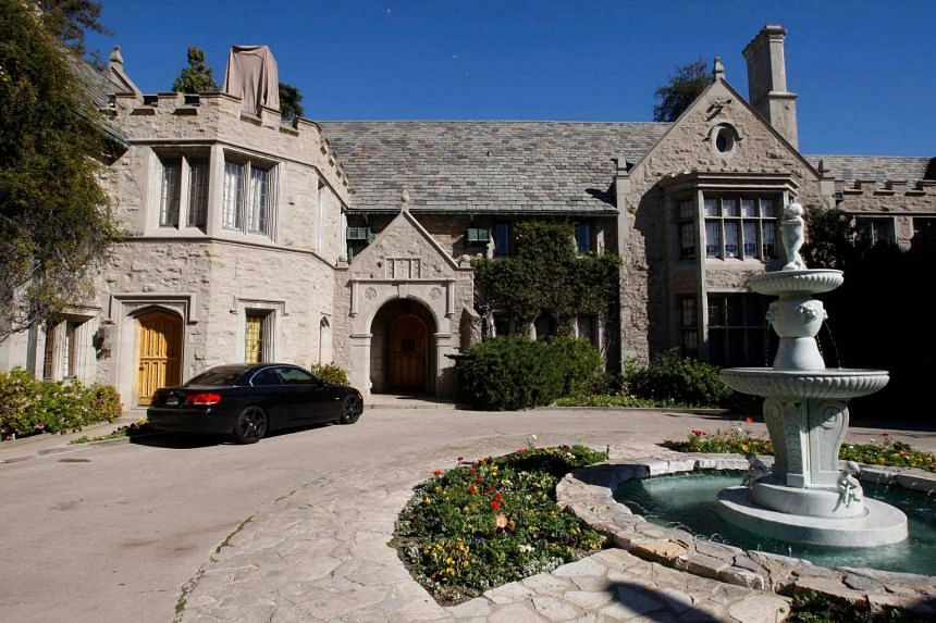 A view of the Playboy Mansion in Los Angeles, California.