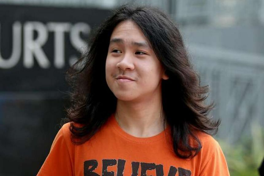 Teen blogger Amos Yee arriving at the State Courts on August 17.
