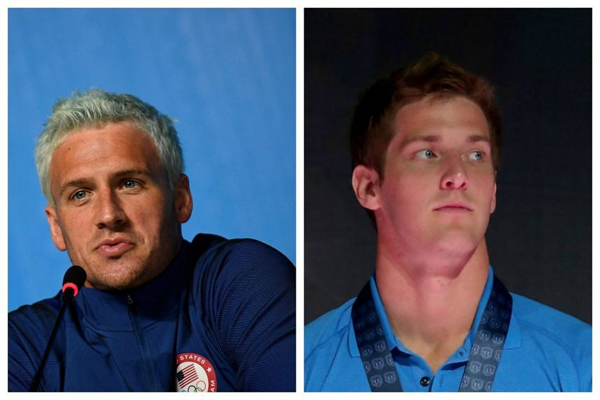 A judge in Brazil has issued an order preventing US swimmers Ryan Lochte (left)and James Feigen from leaving the country.