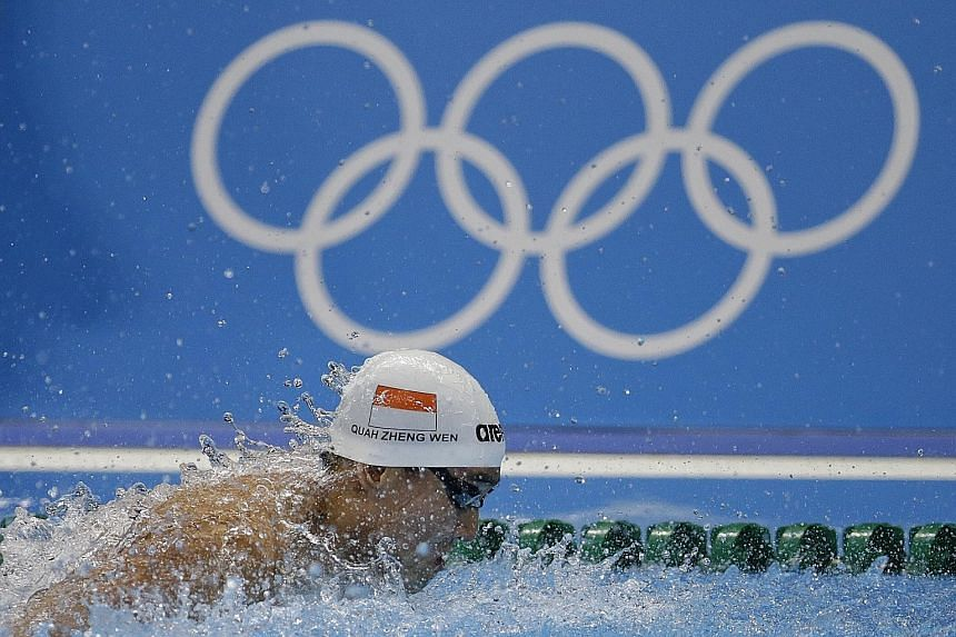 Olympic champion Joseph Schooling believes he and Quah Zheng Wen (above) can be part of a Singapore medley relay team at the Tokyo Games in 2020.