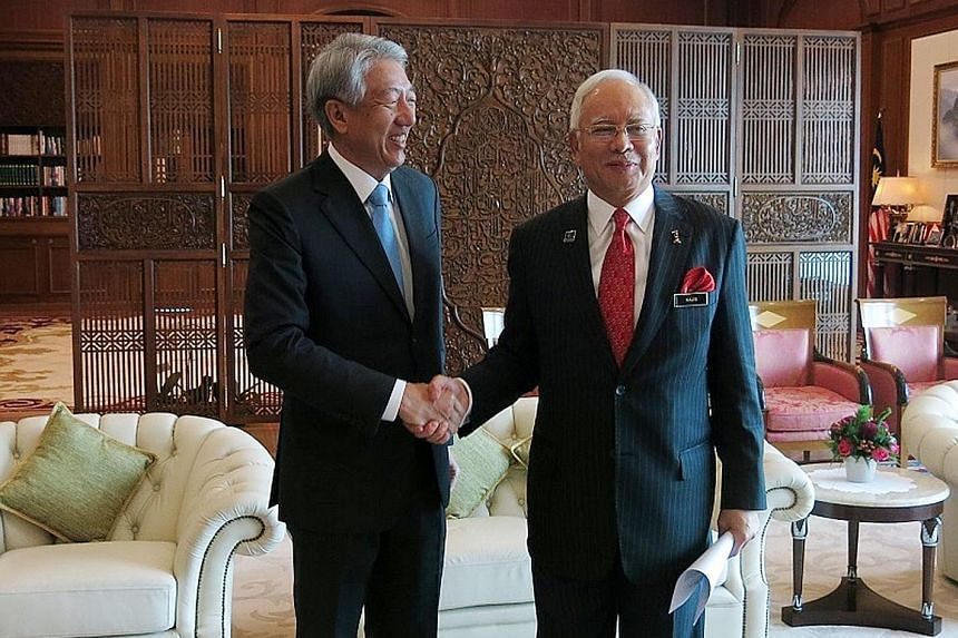 Mr Teo with Mr Najib during his visit to Putrajaya, where Singapore's good relations and cooperation with Malaysia were underlined.