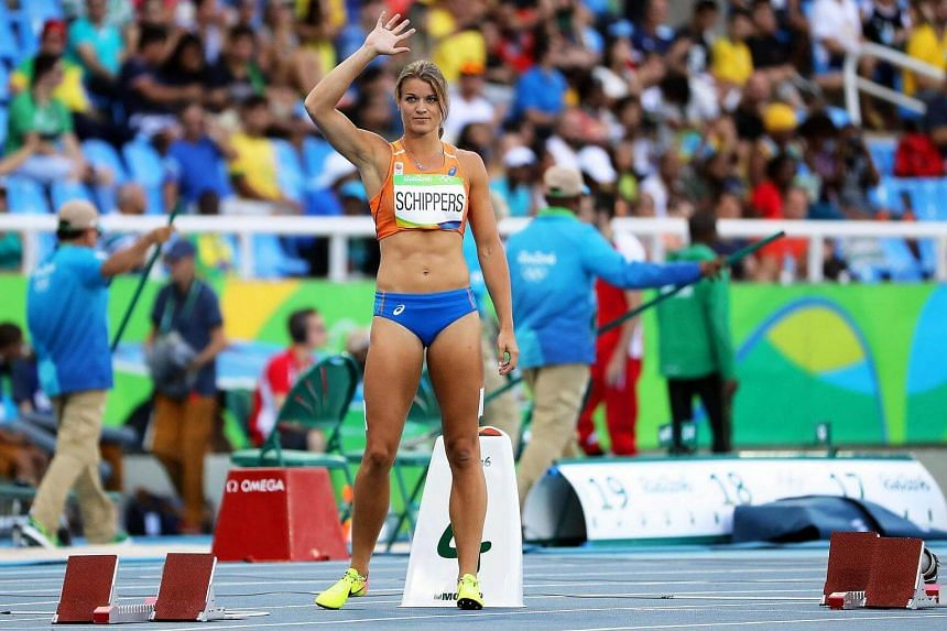 Dafne Schippers of the Netherlands prepares to compete during the women's 200m heats of the Rio 2016 Olympic Games Athletics, Track and Field events in Rio de Janeiro, Brazil, August 15.