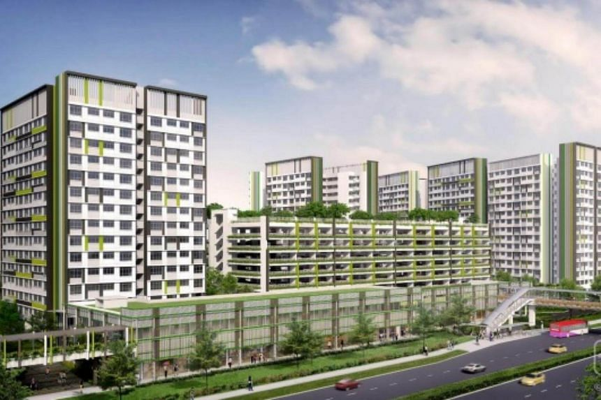 Artist impression of Tampines GreenView, located along Tampines Avenue 6.