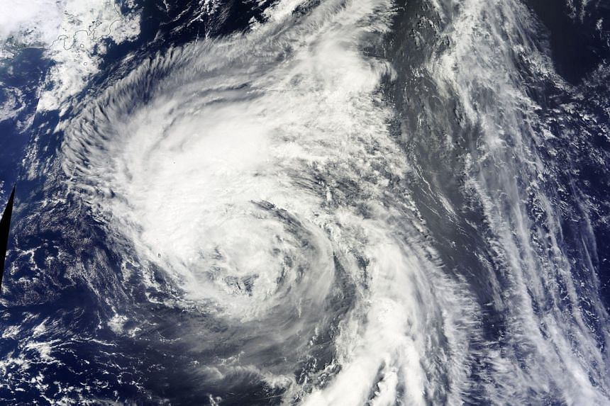NASA's Terra satellite captured this visible image of Tropical Storm Chanthu east of Japan on August 15.