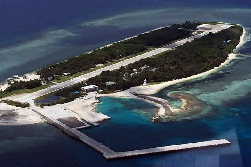 A general view of Taiping island in the South China Sea.