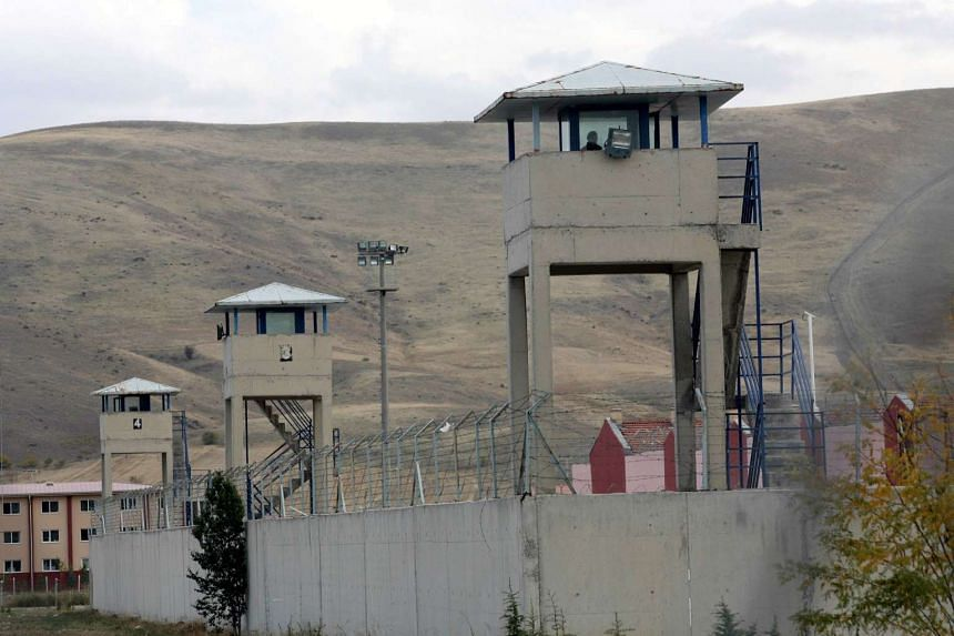 The watchtowers of the Sincan prison, outside Ankara, Turkey on Nov 2, 2012.