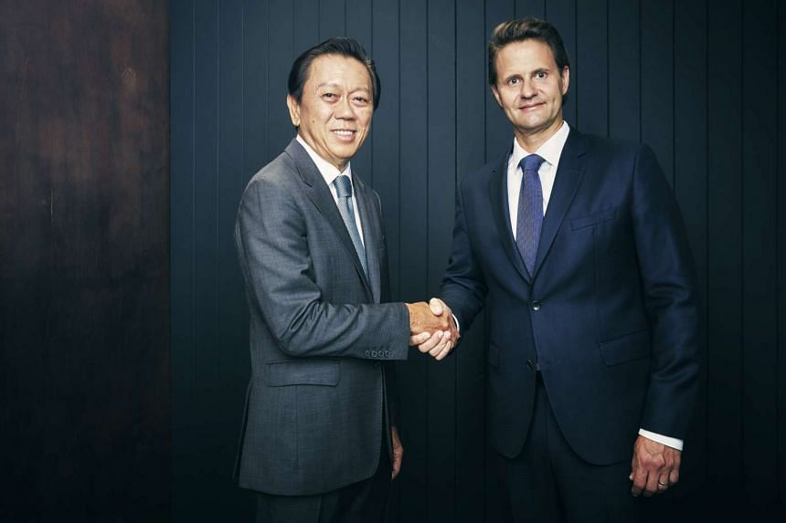 Dr Wolfgang Baier (right) has been appointed Luxasia's group CEO and founder-owner Patrick Chong (left) will become chairman.
