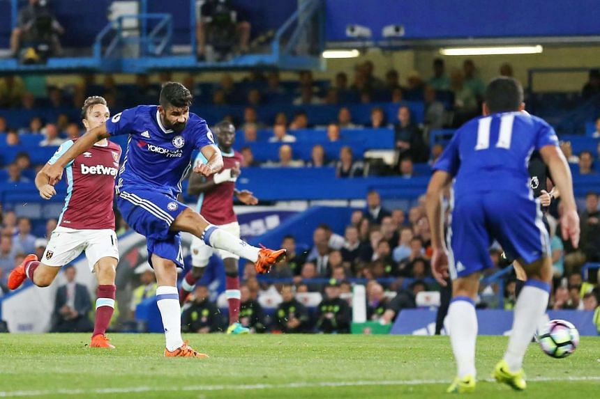 Chelsea striker Diego Costa striking a daisy-cutter late on to hand his new boss Antonio Conte a debut win over West Ham.
