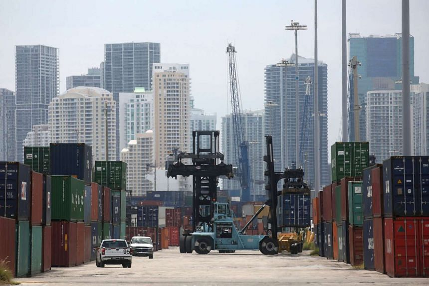 The Port of Miami in Florida in the United States. The American Express survey revealed that Singapore enterprises ranked the US as their top trading partner by revenue, followed by Hong Kong and Australia.