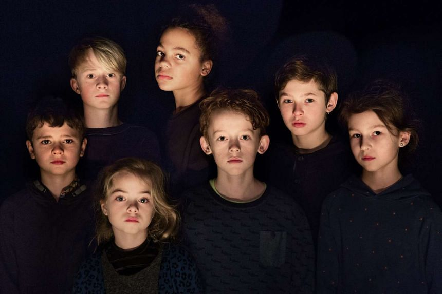The cast of Five Easy Pieces, a play about the trial of a paedophile that has received an R18 rating by the MDA.