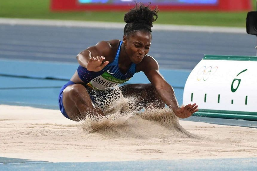 Tianna Bartoletta of the United States won the women's long jump gold medal at the Rio 2016 Olympics.