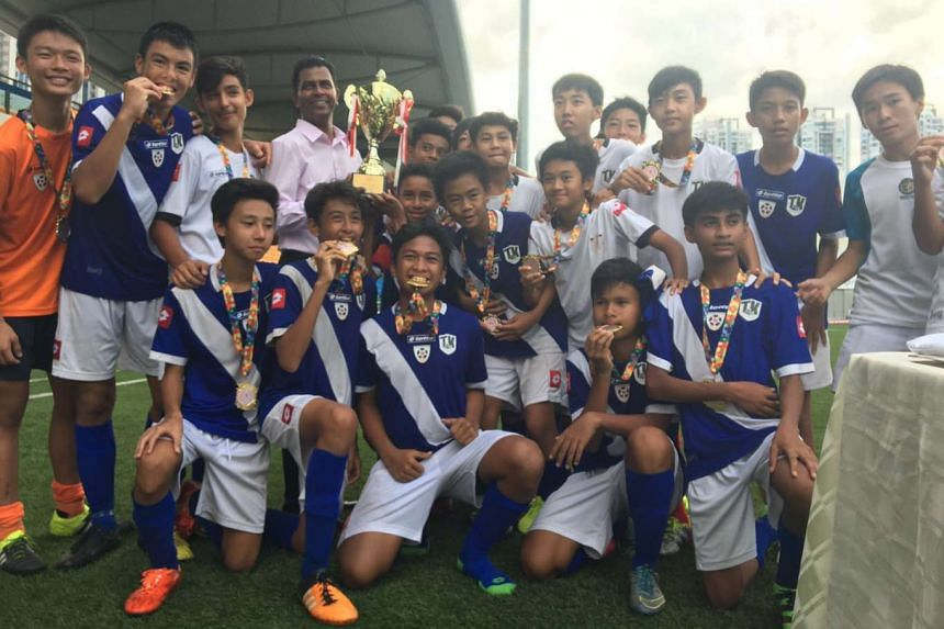 Tanjong Katong Secondary School won the Schools National C division boys' football title on Aug 18, 2016.