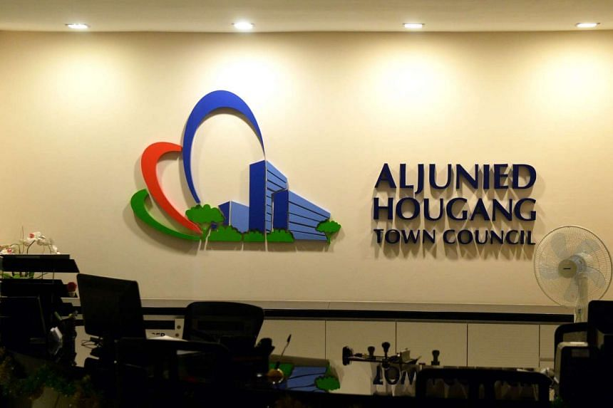 Aljunied-Hougang Town Council's main office at Blk 810, Hougang Central.