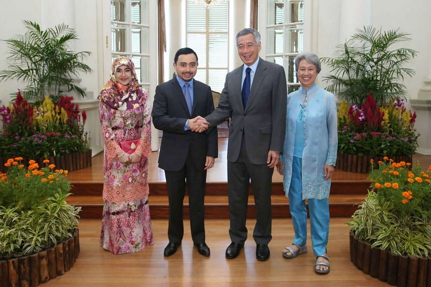 Bruneian Prince 'Abdul Malik called on Prime Minister Lee Hsien Loong on Aug 16, 2016.