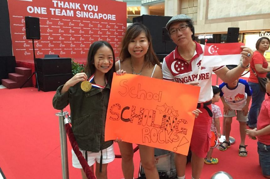 First in line is the Chang family, who arrived at Raffles City at 8am on Aug 18.