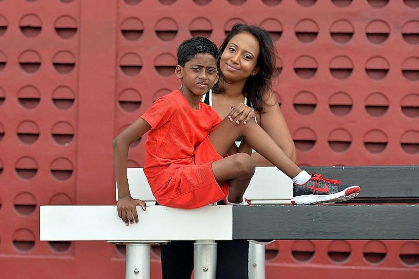 Ms Nirmala says Sashen was so inspired after watching Schooling's Olympic triumph, he wanted to go for a run immediately around the track at the stadium near home. The boy dreams of becoming a sprinter and smashing his own records, says his mother.