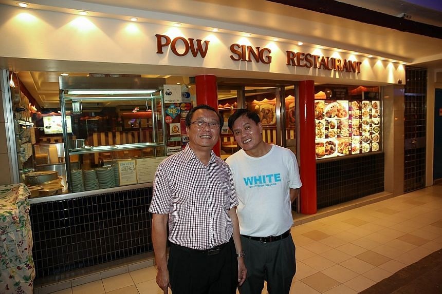 Pow Sing Restaurant director Steven Tan (left) and Pow Sing Kitchen director Lee Chin Soo received news yesterday afternoon that their operating licence suspensions had been lifted.
