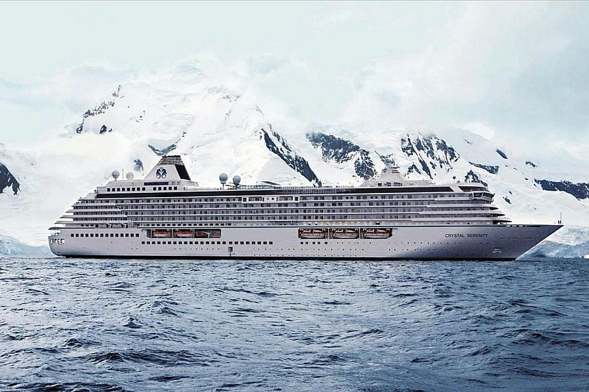 Crystal Serenity, seen here on a trip to Antarctica, was expected to carry as many as 1,700 passengers and crew for the Arctic cruise.