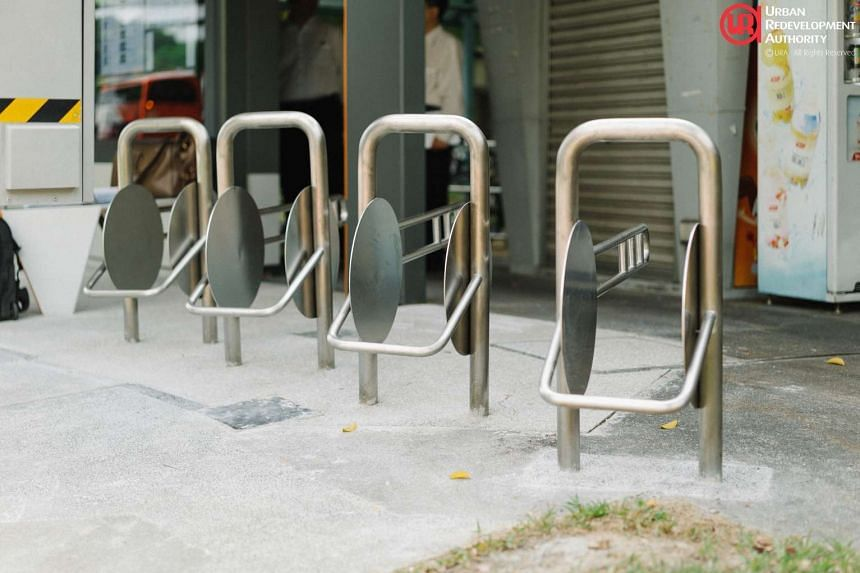 The bike parking area.