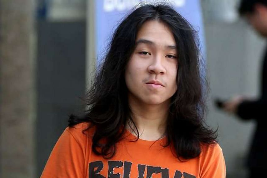 Teen blogger Amos Yee, arrives at the State Courts claimed trial to eight charges with a deliberate intent to wound religious or racial feelings, and for not showing up at a police station.