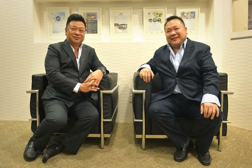 Founders of the AGV Group, one of the leading providers of hot dip galvanising services in Singapore, brothers Albert (left) and James Ang.