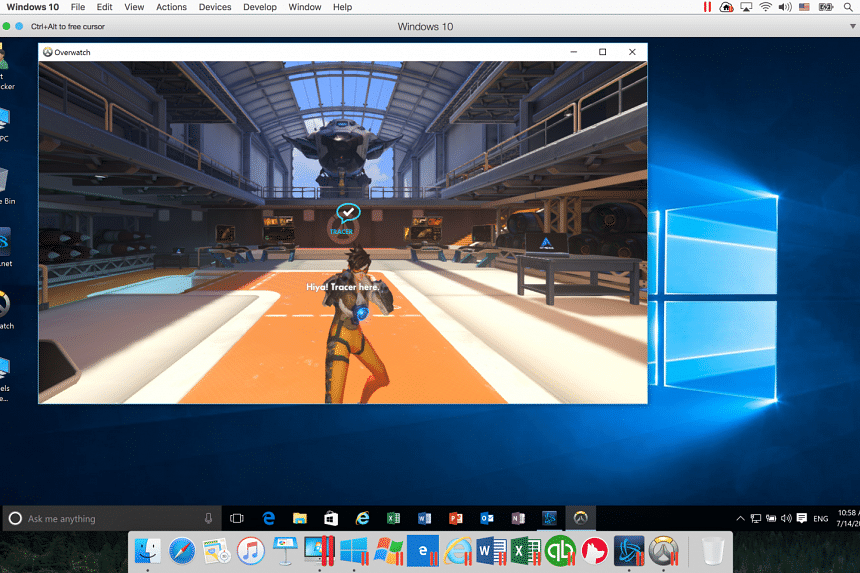 Playing Overwatch on a Mac using Parallels Desktop 12.