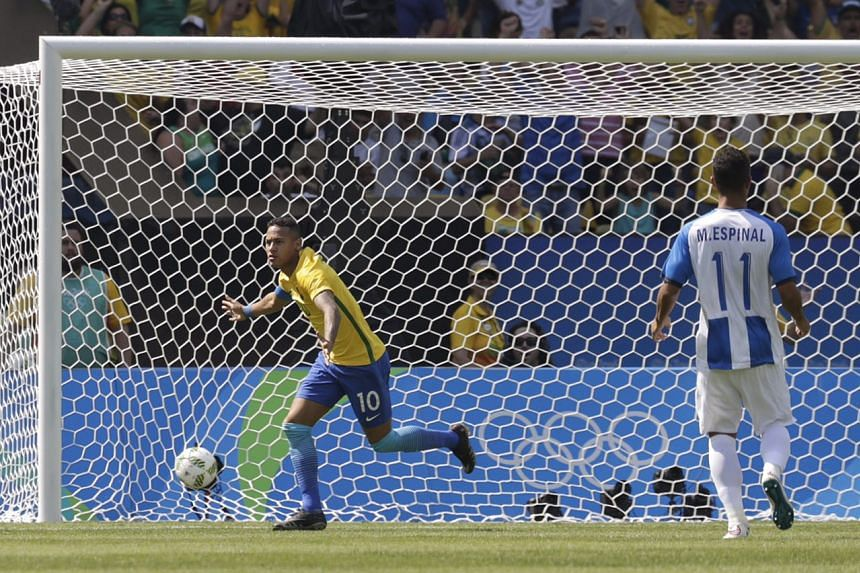 Neymar scores after 15 seconds -  the fastest goal ever scored at the Olympic Games.