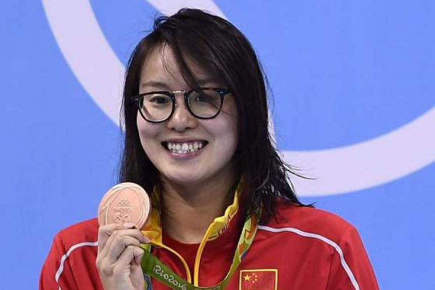 Bronze medallist Fu Yuanhui at the Rio Olympics.