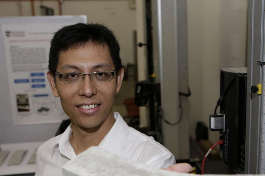 Prof Yang leads the research on ConFlexPave, which bends under pressure.